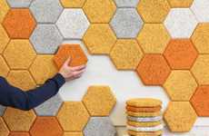 Honeycomb Soundproofing Systems - Hexagon by FORM US WITH LOVE Doubles as Geometric Wall Art