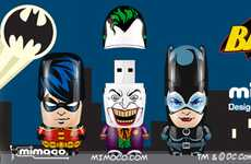 Comic Book Flash Drives - The DC Batman x Mimobot USBs are Absolutely Adorable