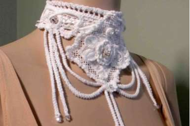 Decorative Woven Neckwear - These Julianata Knitwear Accessories are Creatively Intricate