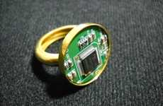 Intricate E-Waste Embellishments - The Computer Couture Circuit Accessories of GeekeryJewelry