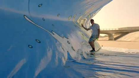 mountain dew waves tarp surfing