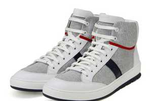 The Dior Homme Sweat High Sneakers are a Pair of Haute High Tops