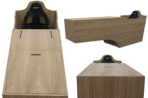 The VRS-P1 Prosumer Racing Simulator is a Stylish Wooden Game Piece