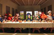 Biblical Cartoon Breakfasts - Brian Stuckey Creates a Last Supper Diagram With Cereal Mascots
