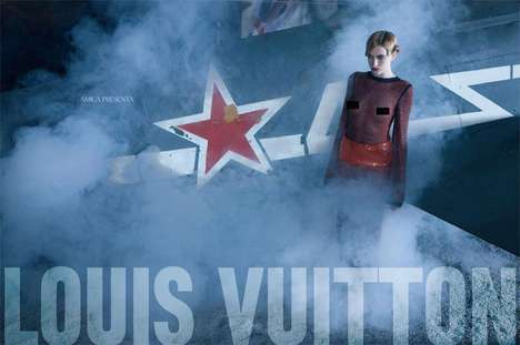 Gothic Aviator Shoots - The Amica Louis Vuitton Editorial Features Suzie Bird and Ophelie Rupp
