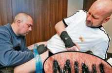 Intense Branding Tattoos - Andreas Mueller Gets a Painful Tattoo to Win a Car