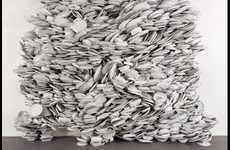 Stacked Dishware Sculptures