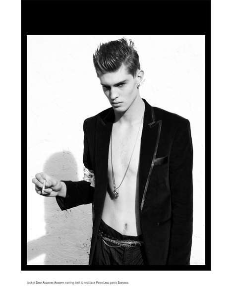 Vintage Bad Boy Shoots - Get Your Dose of Classic Fashion with New Wave February 2011