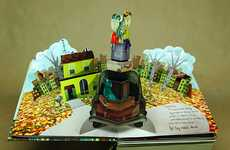 Promotional Pop-Up Books - 'Where Should We Go' was Created by Nate Coonrod for Nokia Mobile