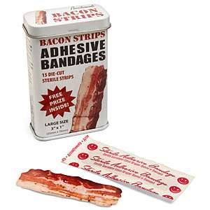 These Bacon Strips Adhesive Bandages Help Cure Minor Chops