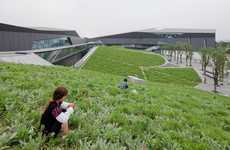 Undulated Green Headquarters - This Structure by Morphosis Architecture Changes With Its Landscape