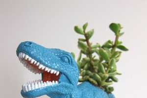 The Dinosaur Planters by Plaid Pigeon Makes Your Garden a Lot Less Boring