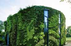 Green Wall Abodes - This Living Structure by Samyn and Partners is Literally Covered in Plant Life
