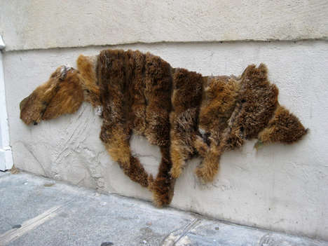 Up-Cycled Fur Coat Art