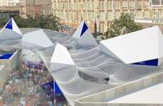 Recycled Plastic Pavilions - MASS Design Group's Bottle Service Concept is Entirely Eco-Friendly
