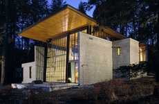 Spacious Lake Homes - The Chicken Point Cabin by Olson Kundig Architects is Astounding