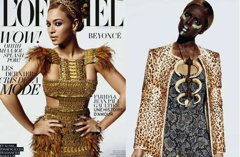 Face Paint Controversies - The Beyonce L'Officiel's March Issue Photo Shoot is Buzzing
