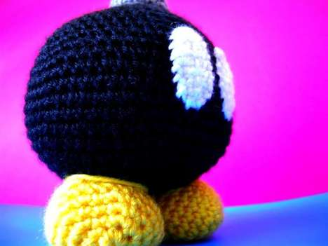 Explosive Gamer Plushies - The Bob-Omb is a Handmade Crocheted Creation