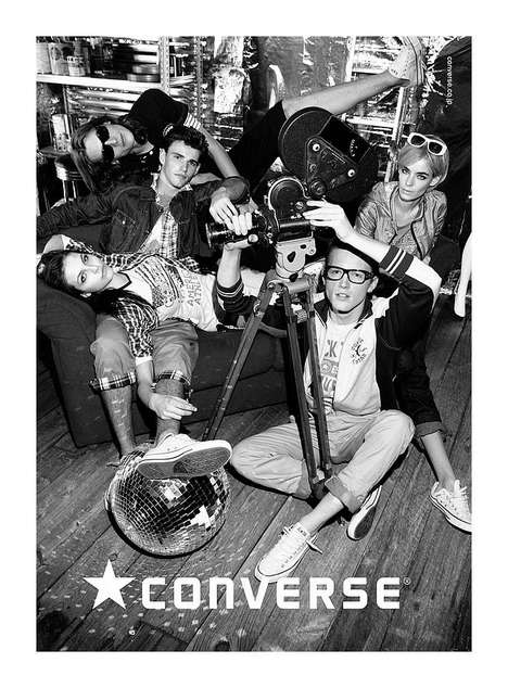 Crowded Canvas Campaigns - The Converse Japan 2011 Issue Gets Up Close and Friendly