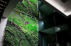 Gargantuan Vertical Gardens - The Urbanarbolism Green Wall in Elche is Three Storeys Tall