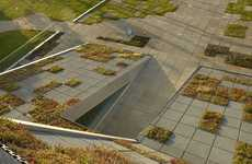 Grid-Like Green Roofs - This CSO Arquitectura Elderly Care Centre Boasts a Funky Eco Exterior