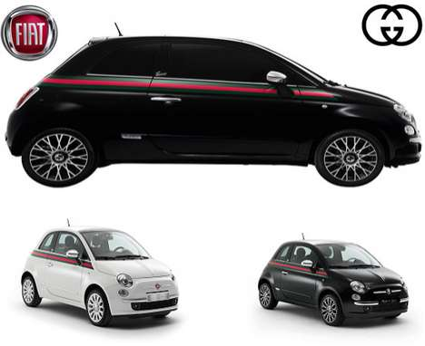 Fashionable City Cars (UPDATE) - The Fiat 500 by Gucci Blends Automotive Style and Sophistication
