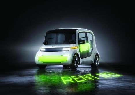 Firefly-Inspired Autos - EDAG Aims to Revolutionize Car Sharing With the Light Car Sharing Concept