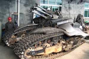 Transformer Superfan Builds Megatron Tank Model