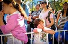 Lined-Up Disney Photography - Arin Fishkin Shows the Price Kids Pay Meeting Mickey Mouse & Company