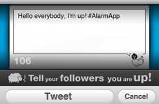 Social Media Alarm Clocks - The Alarm App Tweets and Facebooks Your Morning Wake-Up