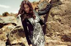 Daring Desert Photoshoots - The Kookai Autumn/Winter Campaign Sports Bold Fashion Statements