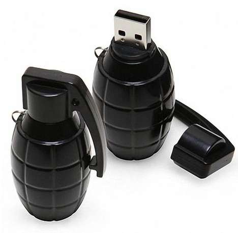 Explosive Memory Sticks - Come to the Office Armed With the USB Grenade Flash Drive