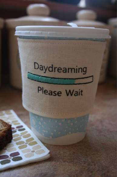 Daydreamer Drink Sleeves - The Sewtara Cup Cozies Personalize Paper Coffee Cups