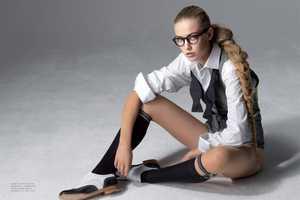 Rosanne Doosje Marie Claire Czech Spread in Slick School Girl Looks