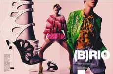 Flamboyant Flashback Lookbooks - (B)RIO by Enrique Badulescu Makes Mismatched Fashions Fierce