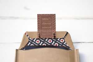 Bellroy Product Packaging Uses Earthy Brown Paper Pouches