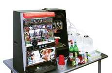 Alcoholic Gambling Machines - The BarBot Slot Machine Pays You in Drinks