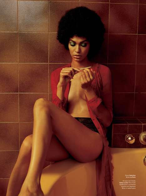 Foxy Afro Editorials - The Joan Smalls V Photoshoot is Righteously Retro