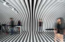 Trippy Bar Interiors - Francesco Gatti Architects Have Made a Psychedelic Cave-Like Bar in Shanghai