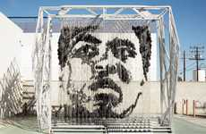 Muhammad Ali by Michael Kalish has Facial Features of Suspended Sacks