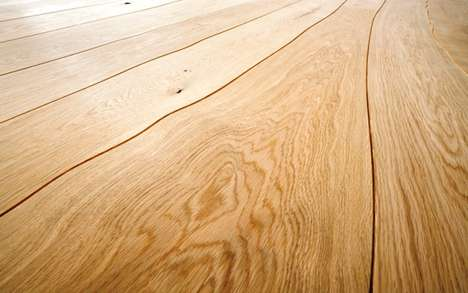 Curvy Floor Boards - Bole Floor's Floorboards Follow the Natural Curves of Wood