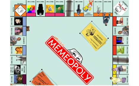 Cartoon Character Currency Games - Memeopoly Reinvents the Classic Board Game