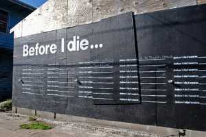 Before I Die by Candy Chang Lets People Write Their Drems on the Wall