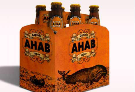 Novel Booze Branding - Captain Ahab Lager Packaging Brings the Drinker into the Book