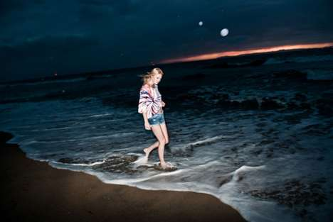 Dark Beach Photoshoots - Jennifer Herrema Stars in the Volcom Jeans Spring 2011 Lookbook