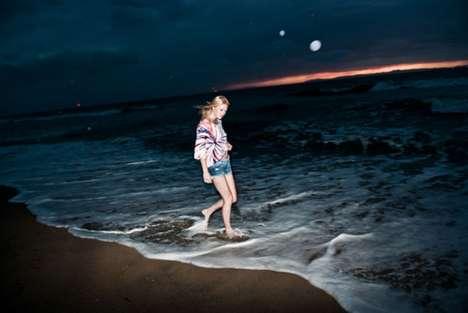 Dark Beach Photoshoots - Jennifer Herrema Stars in the Volcom Jeans Spring Lookbook