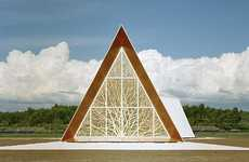 Angular Arboreal Sanctuaries - The Ecumenical Chapel by AOA Architects Branches Out to All
