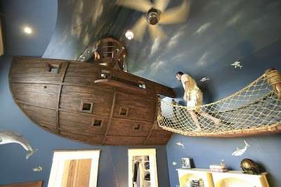 Swashbuckling Bedrooms - Steve Kuhl Has Built the Most Incredible Pirate Ship Room