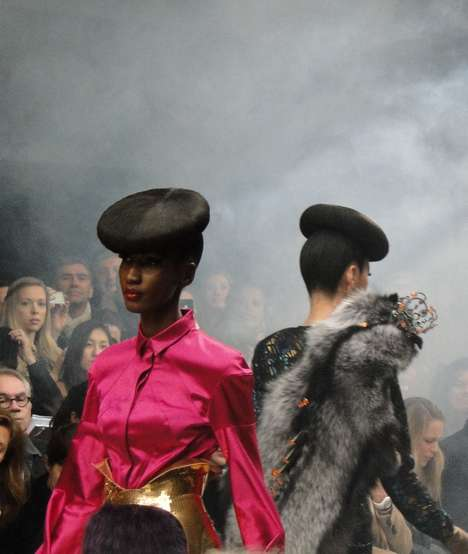 Hair-Hatted Models - The Manish Arora F/W 2011  Collection Sparkles at Paris Fashion Week
