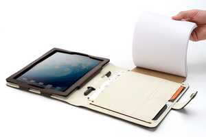 The Booqpad iPad 2 Case Contains a Paper & Pen Holder to Jot Down Notes